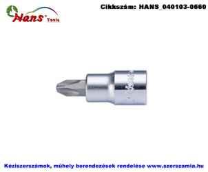 HANS 1/2 col Phillips bit-dugókulcsfej PH2 4022PH2
