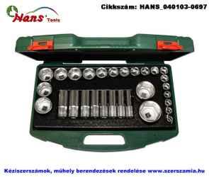 HANS 1/2 col dugókulcsfej készlet 29 részes 10-46mm TTK-2 szerszámos ládában