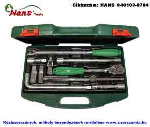 HANS 1/2 col dugókulcs hajtó készlet 10 részes TTK-3 szerszámos ládában