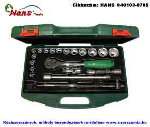 HANS 1/2 col dugókulcs készlet 20 részes 8-32mm TTK16.1 szerszámos ládában