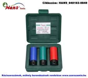 HANS 1/2 col gépi hosszú kerék dugókulcsfej készlet 3 részes 17; 19; 21mm 84603MBC