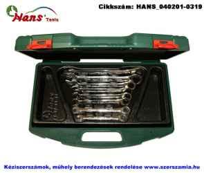 HANS racsnis csillag-villás kulcs készlet 8 részes 8-19mm TTK-32 szerszámos ládában