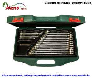 HANS csillag-villás kulcs készlet 19 részes 6-24mm TTK-29 szerszámos ládában