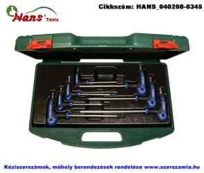 HANS T-nyelű TORX-TH kulcs készlet 7 részes TH10-TH40 TTK-19 szerszámos ládában