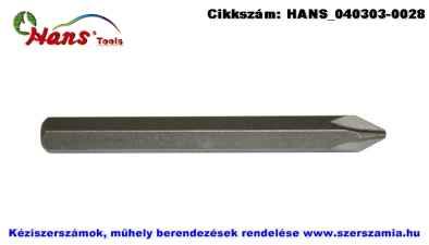 HANS 5/16 col Phillips bit hegy S2 PH2x80 022-8PH2, 6db/csomag