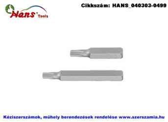 HANS 10mm TORX bit hegy S2 T20x30 043-3T20, 5db/csomag