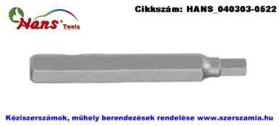 HANS 10mm imbusz bit hegy S2 SW4x30 063-3M04, 5db/csomag