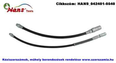 HANS flexibilis zsírzócső plusz fej 450mm BSPT1/8 col 717SP-18