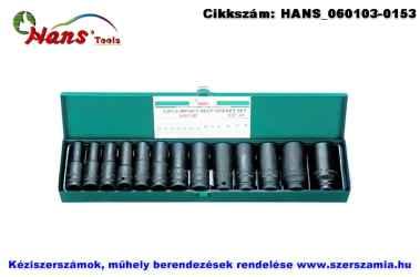 HANS 1/2 col gépi hosszú dugókulcsfej készlet 13 részes 10-30x80mm 84613M