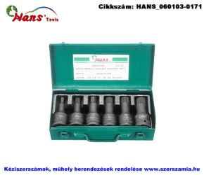 HANS 3/4 col gépi imbusz dugókulcsfej készlet 6 részes SW12-SW24 866016-6M