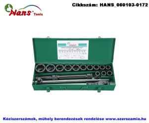 HANS 3/4 col gépi dugókulcs készlet 17 részes 19-50mm 6617M8