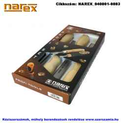 NAREX asztalosvéső készlet fa nyéllel 4 részes 6-12-20-26mm 863010