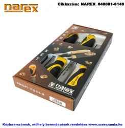 NAREX favéső készlet üthető fémvégű nyéllel 4 részes 6-12-20-26mm 860600