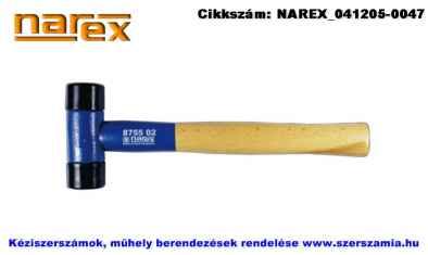 NAREX cserélhető műanyag fejes kalapács 240g d26 fa nyéllel 875501