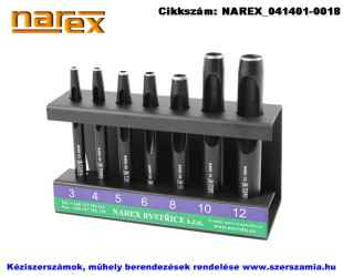 NAREX bőrlyukasztó hengeres készlet 7 részes 3-12mm 854800