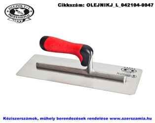 Gipszkarton glettelő, kerekített, homorított INOX 130x305mm ERGO Super-Profi