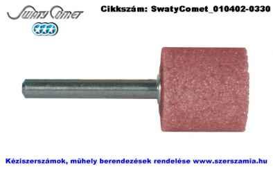 SwatyComet csapos csiszolókő, hengeres rózsaszín d25x40xS6 4A60P4V F52B