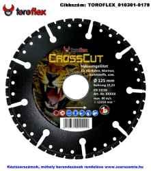 TOROFLEX CrossCut gyémánttárcsa d125x22,2
