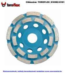 TOROFLEX gyémánt csiszoló tányér dupla soros d125x22,2
