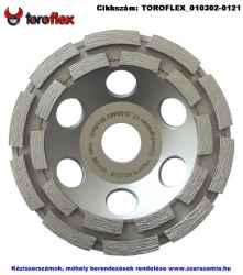 TOROFLEX gyémánt csiszoló tányér dupla soros d115x22,2 HO