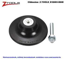 Z-TOOLS gyorsrögzítésű csapos tartótányér d75xS6 rugalmas gumi kivitel