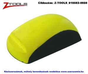 ZO-TOOLS kézi csiszolófelfogó, tépőzáras PU hab 90x150mm