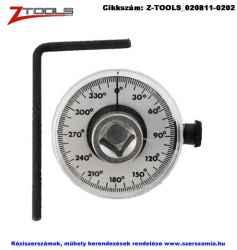 Z-TOOLS nyomaték-szögmérő tárcsa 1/2 col 360fok