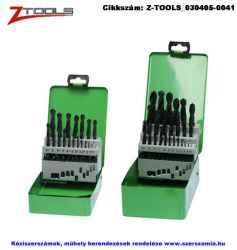 Z-TOOLS csigafúró készlet HSS-R 19 részes d1,0-10,0/0,5 Metal-Box