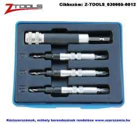 Z-TOOLS előfúró-csavarozó bit készlet 4 részes PZ1; PZ2; PZ3