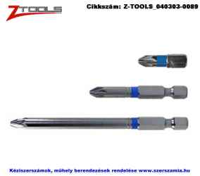 Z-TOOLS 1/4 col Pozidriv bit hegy S2 PZ1x25, 10db/csomag