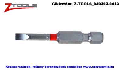 Z-TOOLS 1/4 col lapos bit hegy S2 SL3x0,5x50, 5db/csomag