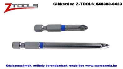 Z-TOOLS 1/4 col Pozidriv bit hegy S2 PZ2x50, 5db/csomag