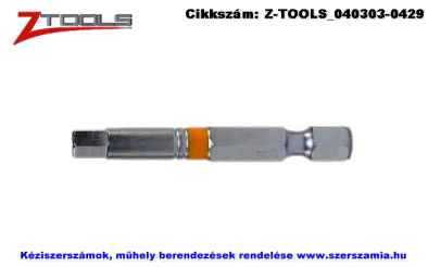 Z-TOOLS 1/4 col imbusz bit hegy S2 SW3x50, 5db/csomag