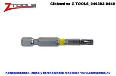 Z-TOOLS 1/4 col TORX bit hegy S2 T20x50, 5db/csomag