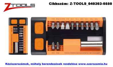 Z-TOOLS bit készlet S2 13 részes SL plusz PH plusz PZ plusz T