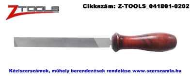 Z-TOOLS lapos láncreszelő, nyelezve 150mm
