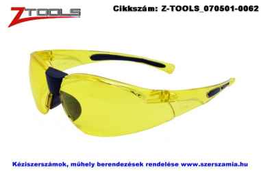 Z-TOOLS védőszemüveg sárga ZTE5623S, 10db/csomag