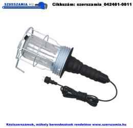 Szerelőlámpa fémkosaras 230V/60W 5m IP54