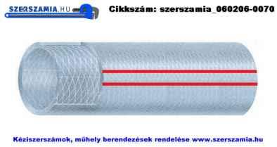 PVC szövetbetétes préslégtömlő d8/13mm 50m/tekercs