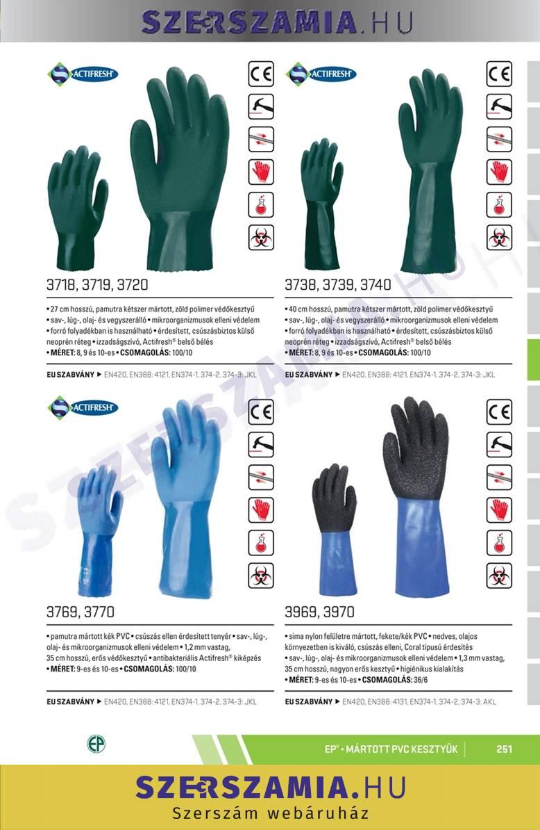 szuper akciók előrendelés online bolt Mártott Polimer kesztyű, zöld, vegyszerálló, 40cm, méret: 10 ...